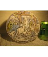 "Fenton Florentine Blue 8"" Nativity Plate 1981 Signed - $19.75"