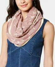 INC International Concepts Embroidered Spring Loop Infinity Scarf, Pink ... - $14.85