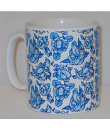 Blue Floral Penis Pattern Mug Funny Willy Cock Girlfriend Boyfriend Love... - $9.66