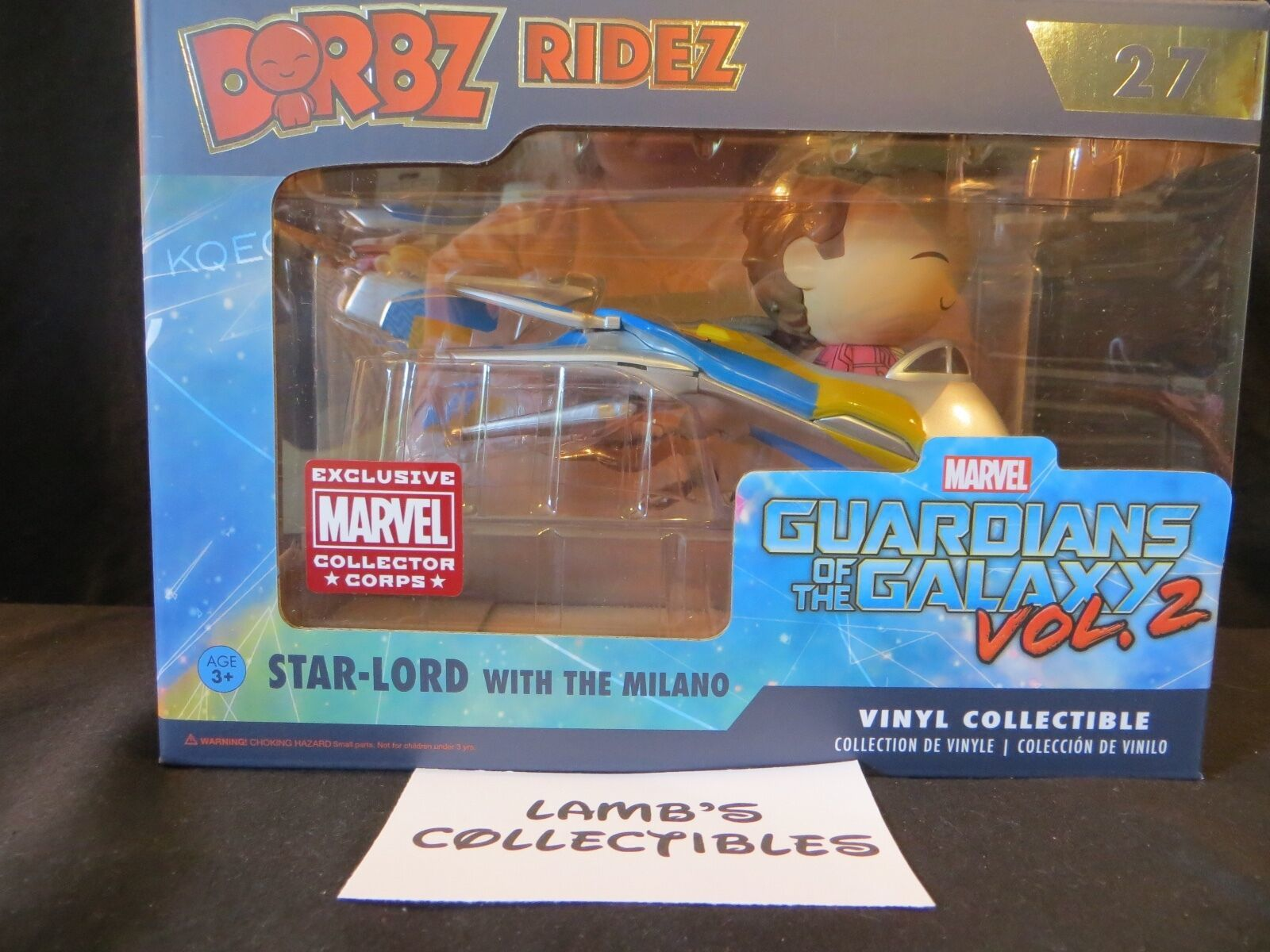 Primary image for Marvel Collector Corps Guardians of the Galaxy Vol 2 Star Lord with Milano Dorbz