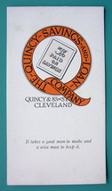INK BLOTTER 1940s  - Quincy Savings and Loan Company Cleveland - $4.49