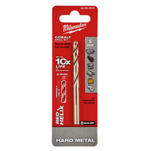 Milwaukee 48-89-2512 5mm RED HELIX Cobalt Drill Bit - Metric - $4.95