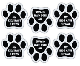 Refrigerator Magnet - Mini Paw Magnets (Set Of 6) - Kids Have 4 Paws - D... - $10.39 CAD