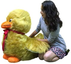 American Made Giant Stuffed Golden Brown Duck S... - $127.11