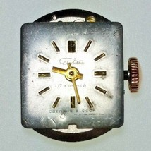 Vintage Craba 1501 Ladies Watch Movement 17 Jewels Running 18x13 mm - $9.49