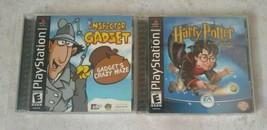 Harry Potter Sorcerers Stone & Inspector Gadget Crazy Maze PS 1 PlayStat... - $21.19