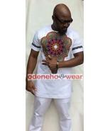Odeneho Wear Men's White Polished Cotton Top&Bottom/Dashiki Design. Afri... - $118.80+