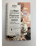 See it Bigger 2020 Monthly Weekly Planner Agenda Pink Floral 8 x 7 - $27.72