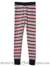 NWT $40 GAP Kids Girls 10 L Fair Isle Sweater Leggings Knit Pants - $15.83