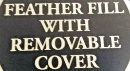 "Gold Metallic Embroidered Lumbar Pillow Fieldcrest 12"" x 18"" Feather Down Fill image 3"
