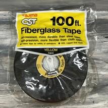 Vtg New NOS TAJIMA Symron FIBERGLASS 100 Ft 100' TAPE Measure Yellow CST - $39.55