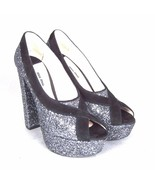 K-MM11135 New Miu Glitter Heels Ladies Shoes Sexy Party Size 37 US 7 - $247.34