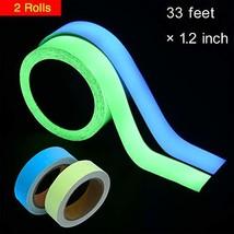 WIWAPLEX 2Pack Glow in The Dark Tape, Green Blue Luminous Tape Sticker 3... - $22.16