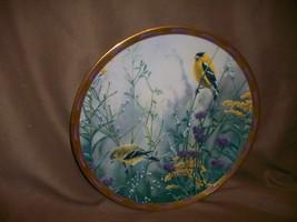 LENOX YELLOW FINCH PLATE GOLDEN SPLENDOR CATHERINE MCCLUNG - $14.84