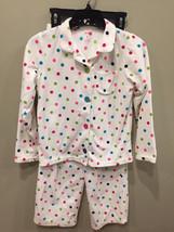 Carters Girls Pajamas Fleece Polka Dot 2 Pieces Size 8 - $8.77