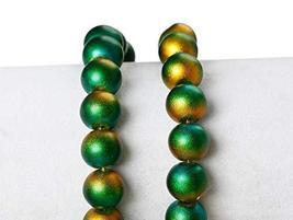 Green Auburn Wholesale Iridescent Glass Pearl Beads - 20 Pcs - $10.89