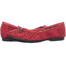 White Mountain Finesse Comfort Flats 852, Red/Nubuck, 5.5 US - $27.93