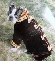 "Doggiduds ""Dig Those Bones""  Faux Leopard Fur & Velvet Dog Coat Sz XS NWT - $19.05"