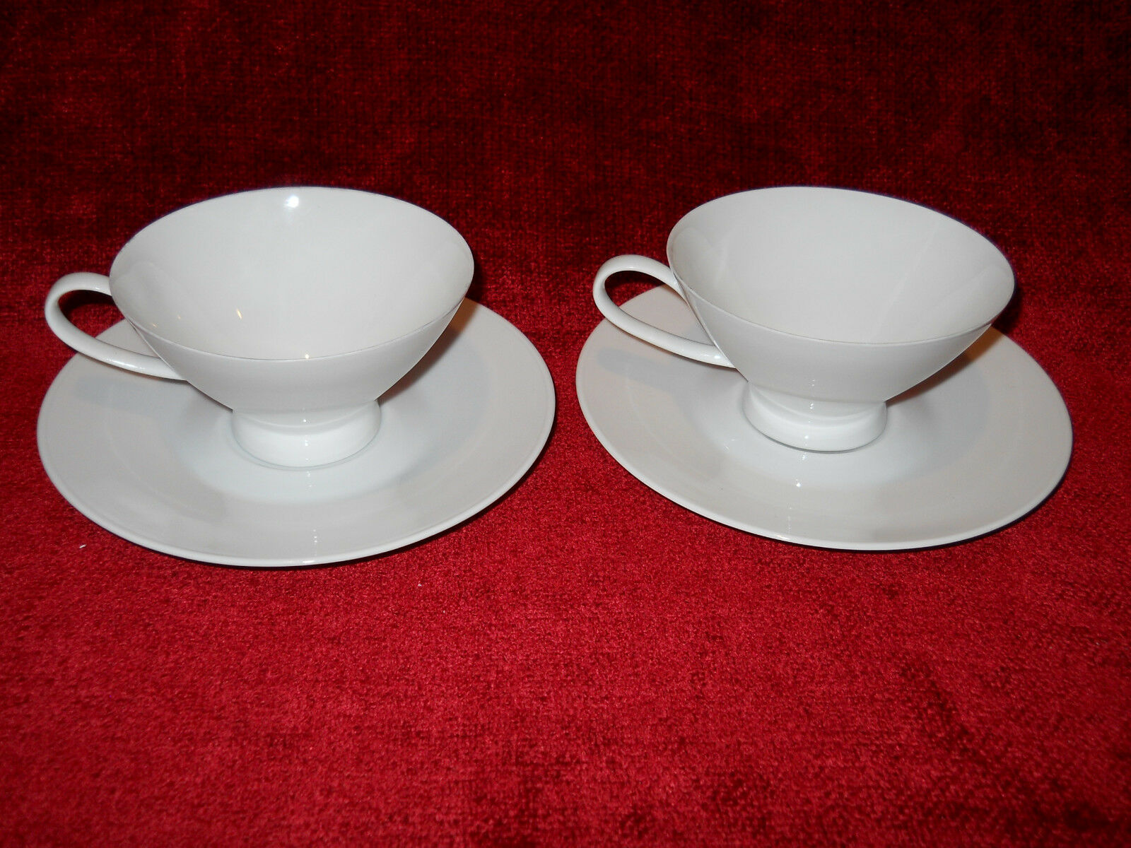 Primary image for Rosenthal Classic Modern white set of 2 cups and saucers