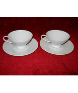 Rosenthal Classic Modern white set of 2 cups and saucers - $12.82