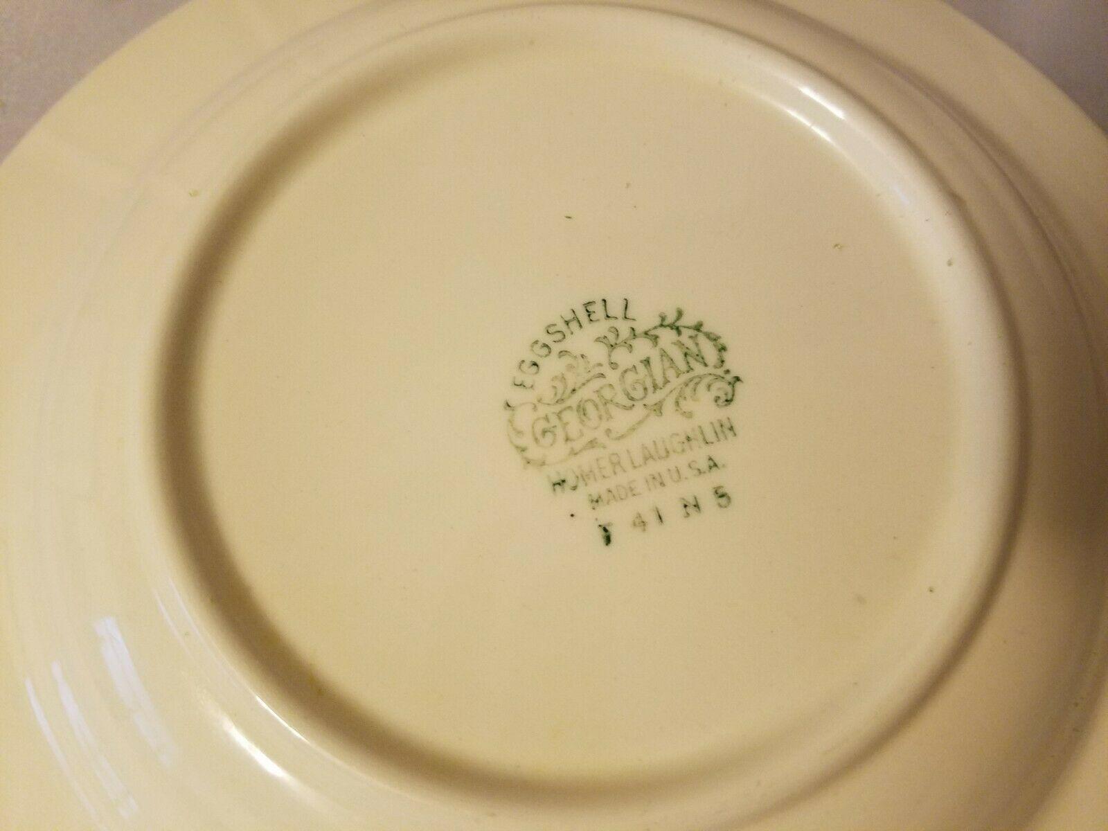 Homer Laughlin Soup Bowls Eggshell Georgian China Robin Egg Blue Set of 3 image 9