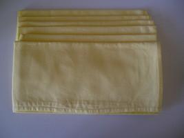 "6 Yellow Napkins Blossom&Bloom Measure 18"" Square  - $12.99"
