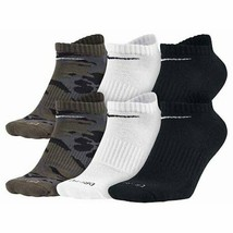Nike Men's 6-Pack Dri-FIT Cushion No Show Socks Camo 5708 902 - $21.96