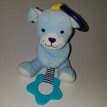 Carter's Child of Mine Blue Puppy Dog Plush Rattle Baby Crib/Stroller Cl... - $15.79