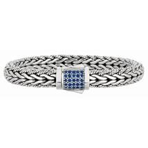 Phillip Gavriel Sterling Silver Woven Blue Sapphire Bracelet - £335.85 GBP+