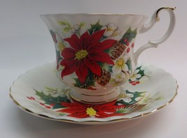 "Vintage Royal Albert China Tea Cup & Saucer ""Yule Tide"" Christmas Patter... - $24.24"