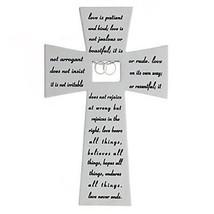 NEW IN BOX - Love Never Fails Wall Cross Anniversary Gift Idea - $24.74
