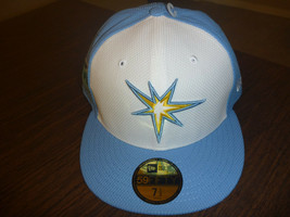 TAMPA BAY RAYS NEW ERA 59FIFTY 2017 FLORIDA LEAGUE BLUE FITTED CAP SIZE ... - $37.99