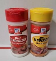 (2) McCormick Meat Tenderizer (1) Unseasoned  And (1) Seasoned 3.37 oz Each - $19.75
