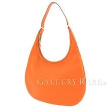 HERMES Gao Taurillon Clemence Orange Shoulder Bag Hobo France #G Authentic - $1,039.38