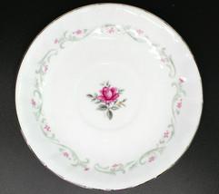 """Vintage Royal Swirl Pink Rose Fine China of Japan 6"""" Saucer Set of 4 - $24.94"""