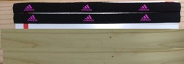 New Unisex Adidas Running HEADBAND Black Pink Logo One Size All Sports  - $6.00