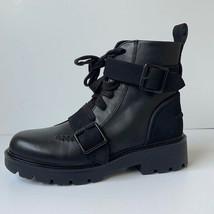 UGG Australia Womens  'Noe' Leather Moto Boot Black 7M NWOB - $139.95