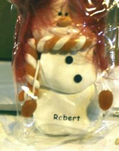 CHRISTMAS ORNAMENTS WHOLESALE- SNOWMAN- 13350 -'ROBERT'-  (6) - NEW -W74 - $5.83