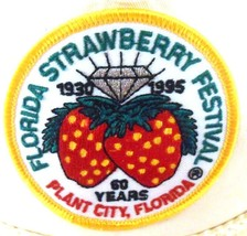 Florida Strawberry Festival Plant City FL 60 Years Patch Strapback Cap Hat - $12.99