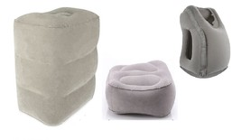 Inflatable Pillow Travel Airplane Train Car Footrest Cushion Comfortable... - $21.58 CAD+