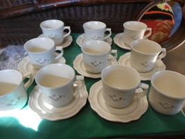 Great Pfaltzgraff Heirloom.. Set Of 8 Cups & Saucers & 2 Free Cups - $31.27