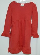 Blanks Boutique Long Sleeved Color Red Ruffle Dress Size 3T image 1