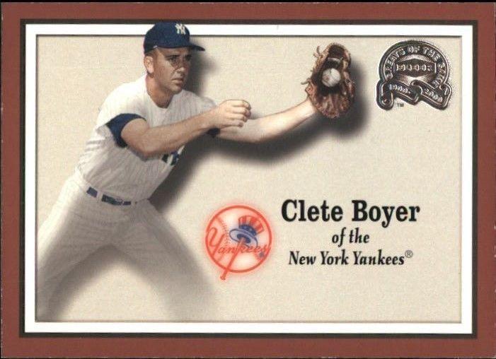 2000 Fleer Greats Of The Game #88 Clete Boyer > New York Yankees