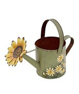 Attraction Design Antique Finish Spring Decorative Watering Can Green - £12.91 GBP