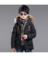 Boys Winter Jacket 2017 New Boys long section thick padded jacket Kids F... - $40.74