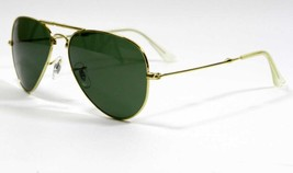 Ray Ban 3479 001 Gold Frame Folding Aviator Sunglasses 58mm New and Authentic - $105.09