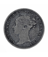 1877 Great Britain Threepence Silver 3 Pence Coin - €23,81 EUR