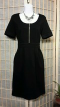 SPENSE WEAR TO WORK DRESS SCOOP NECK BLACK GOLD SIMPLE RAYON WASHABLE SZ 6 - $24.05