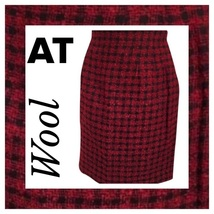 Ann Taylor Petites black & red plaid wool skirt 10P - $24.95