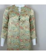 Womens Vintage Silk Japanese Cheongsam Cheong-sam Qipao Gold Dress Gown ... - $89.05